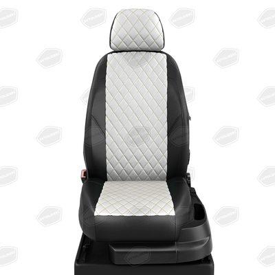 Комплект авточехлов из экокожи РОМБ для Nissan Tiida с 2004-2014г. хэтчбек (Автолидер)