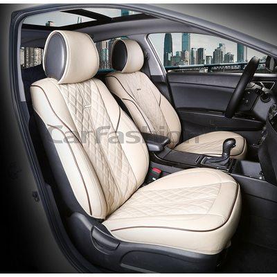 3D Каркасные автомобильные накидки на передние сиденья из экокожи Balaton Premium