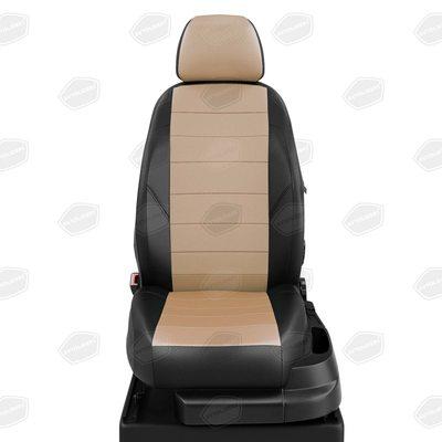 Комплект чехлов из экокожи для Seat Ibiza с 2008-2017. хэтчбек (Автолидер)