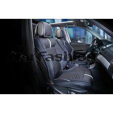 3D Каркасные автомобильные накидки на передние сиденья из ткани Sector Premium