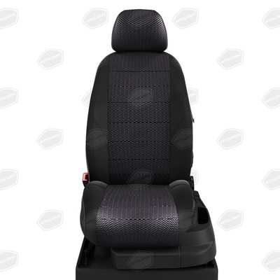 Комплект чехлов из экокожи с жаккардом для Nissan Almera NEW с 2014-н.в. седан (Автолидер)