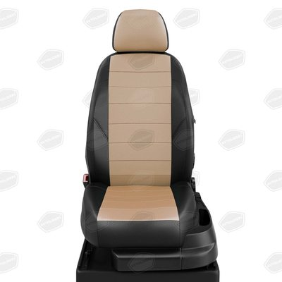 Комплект чехлов из экокожи для Renault Kangoo 2 с 2008-н.в. каблук 2 места. (Автолидер)