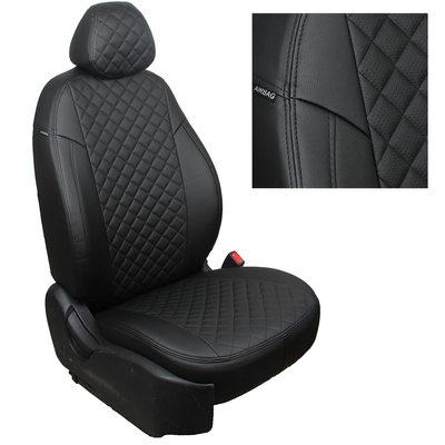Комплект чехлов из экокожи РОМБ для Nissan Primera P12 хэтчбек\седан\универсал (2001-2008) (Автопилот)