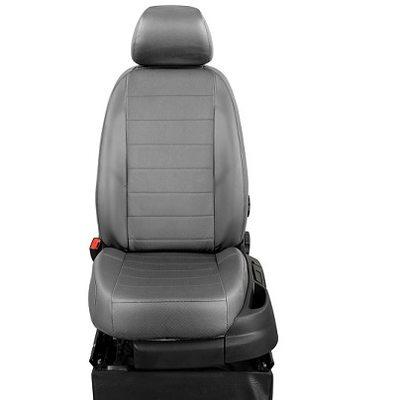 Комплект чехлов из экокожи для Nissan Primera P12 хэтчбек\седан\универсал (2001-2008) (ЭкоЧехлы, Эконом)